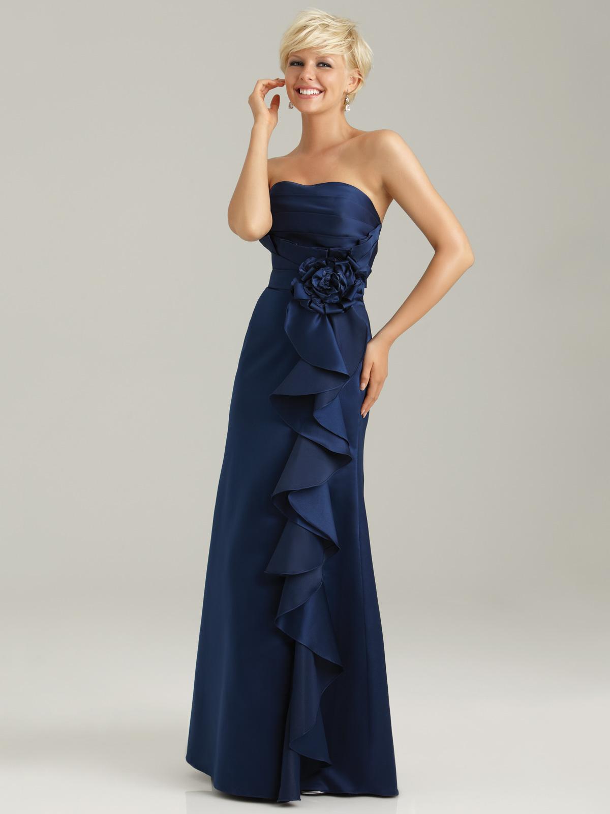 Strapless navy blue bridesmaid dress strapless navy blue bridesmaid dress ombrellifo Image collections