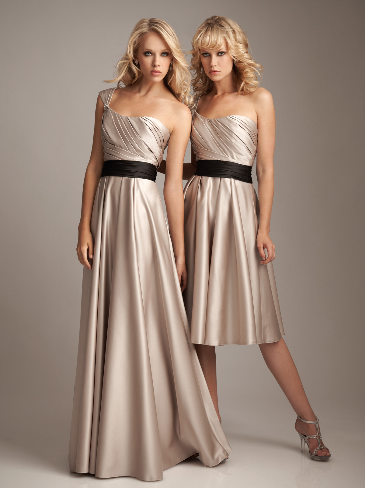 Ivory bridesmaid dresses.