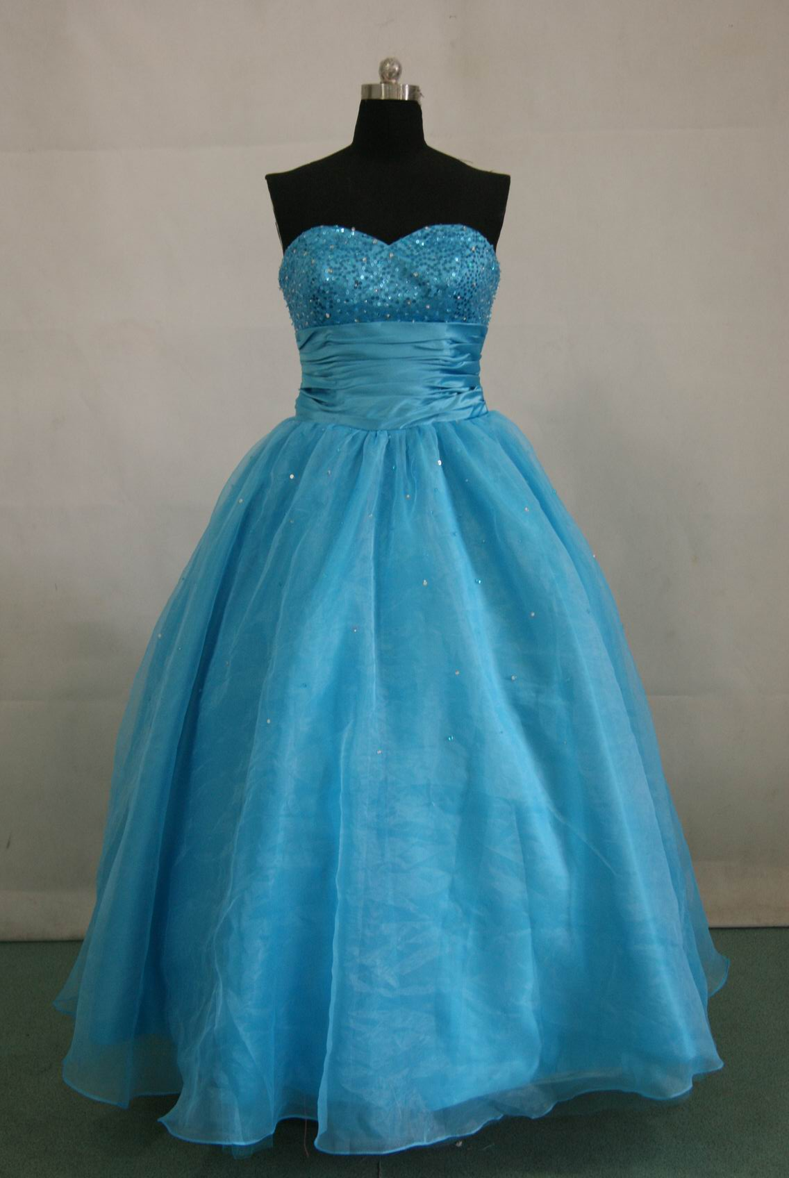 Formal Long Strapless Sweetheart blue dresses