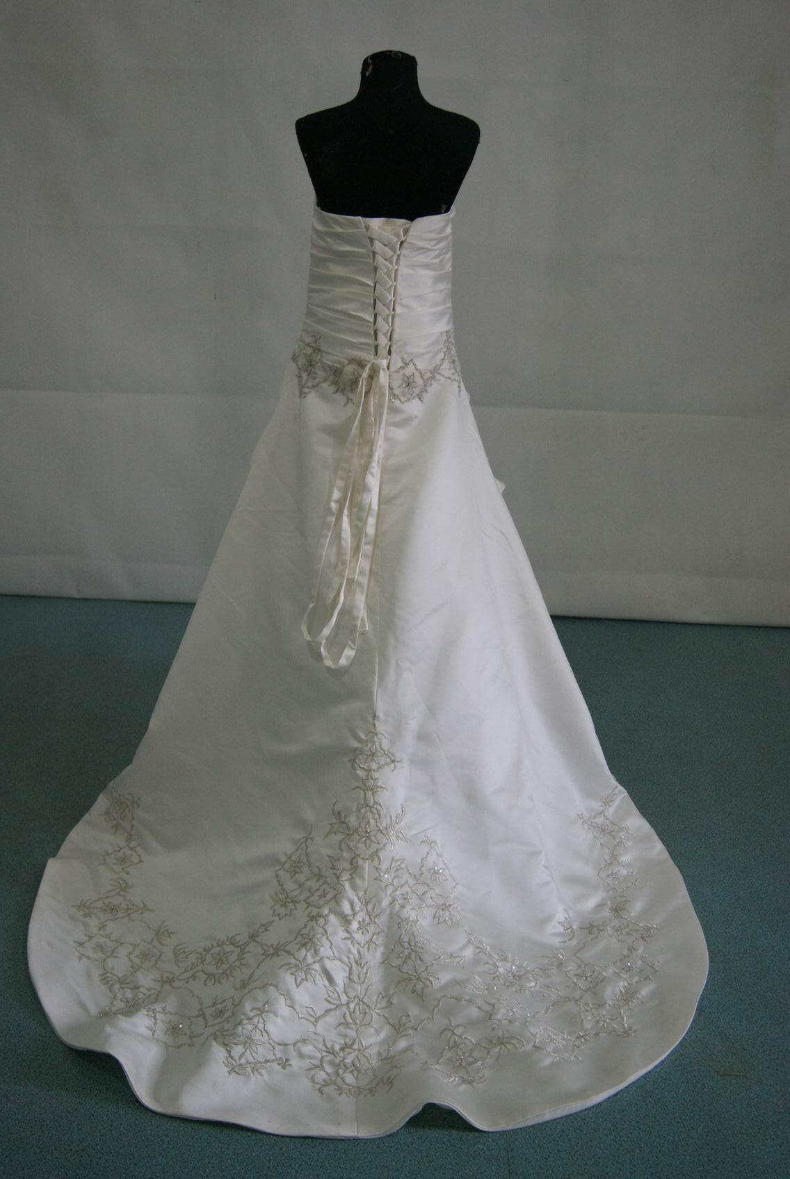 childrens wedding dress with lace up back