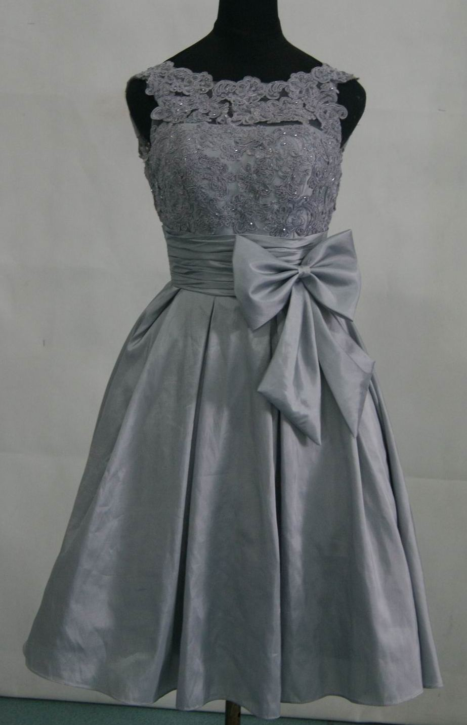 Dress prom lace tops grey bridesmaid dresses prom for Silver wedding dresses 25th anniversary