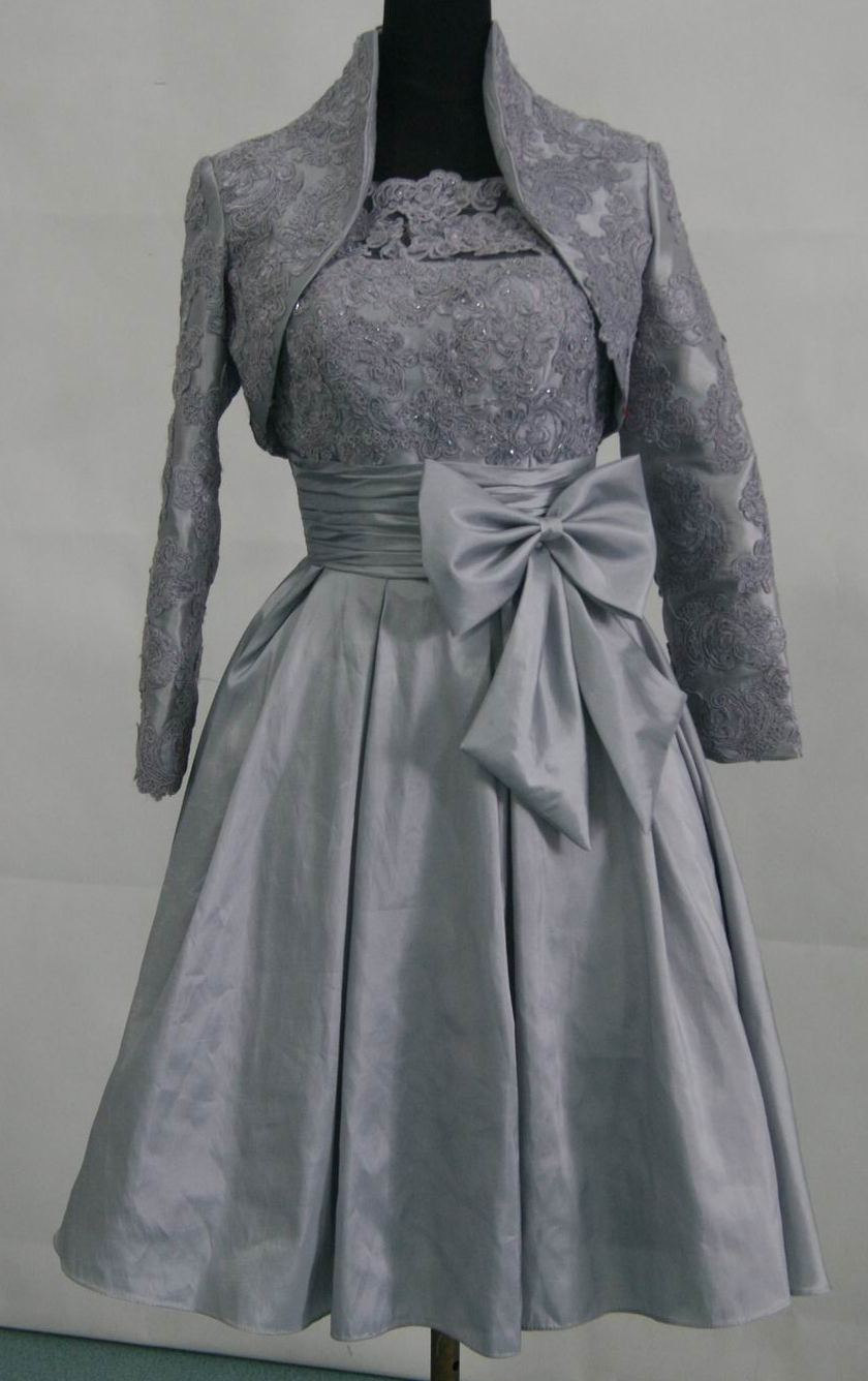 mothers silver special occasion dresses with jacket