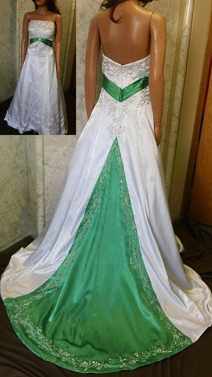 Colorful bridal gowns | color accents bridal gown.