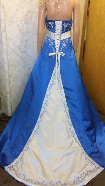 Royal Blue And Silver Wedding Dress