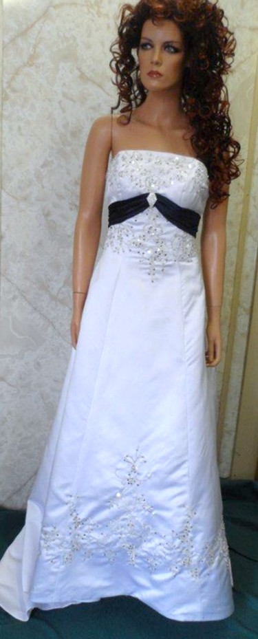 Dark blue and white wedding dress for Navy dresses for weddings