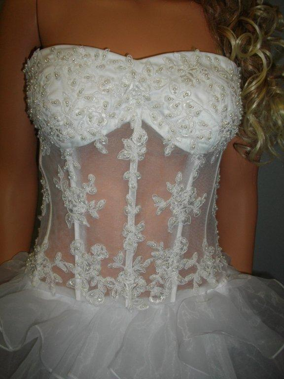 Corset wedding gown illusion wedding dress for See through corset top wedding dress