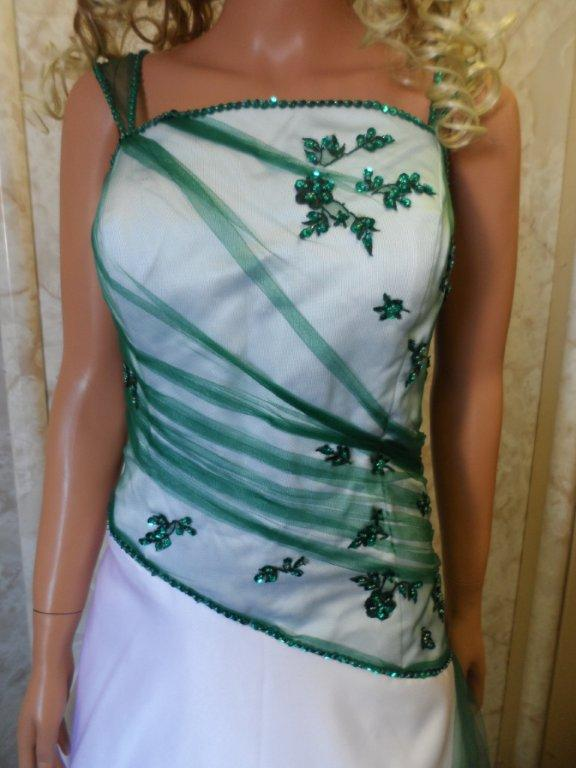 The gallery for emerald green and white wedding dress for Emerald green wedding dress