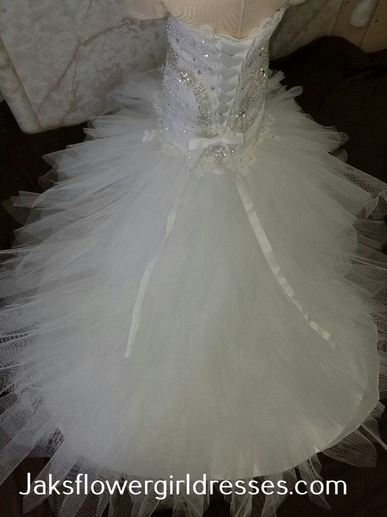 miniature bride dress, fitting for a tiny princess