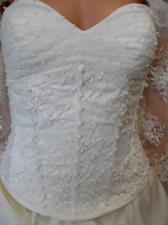 strapless empire waist line wedding gown