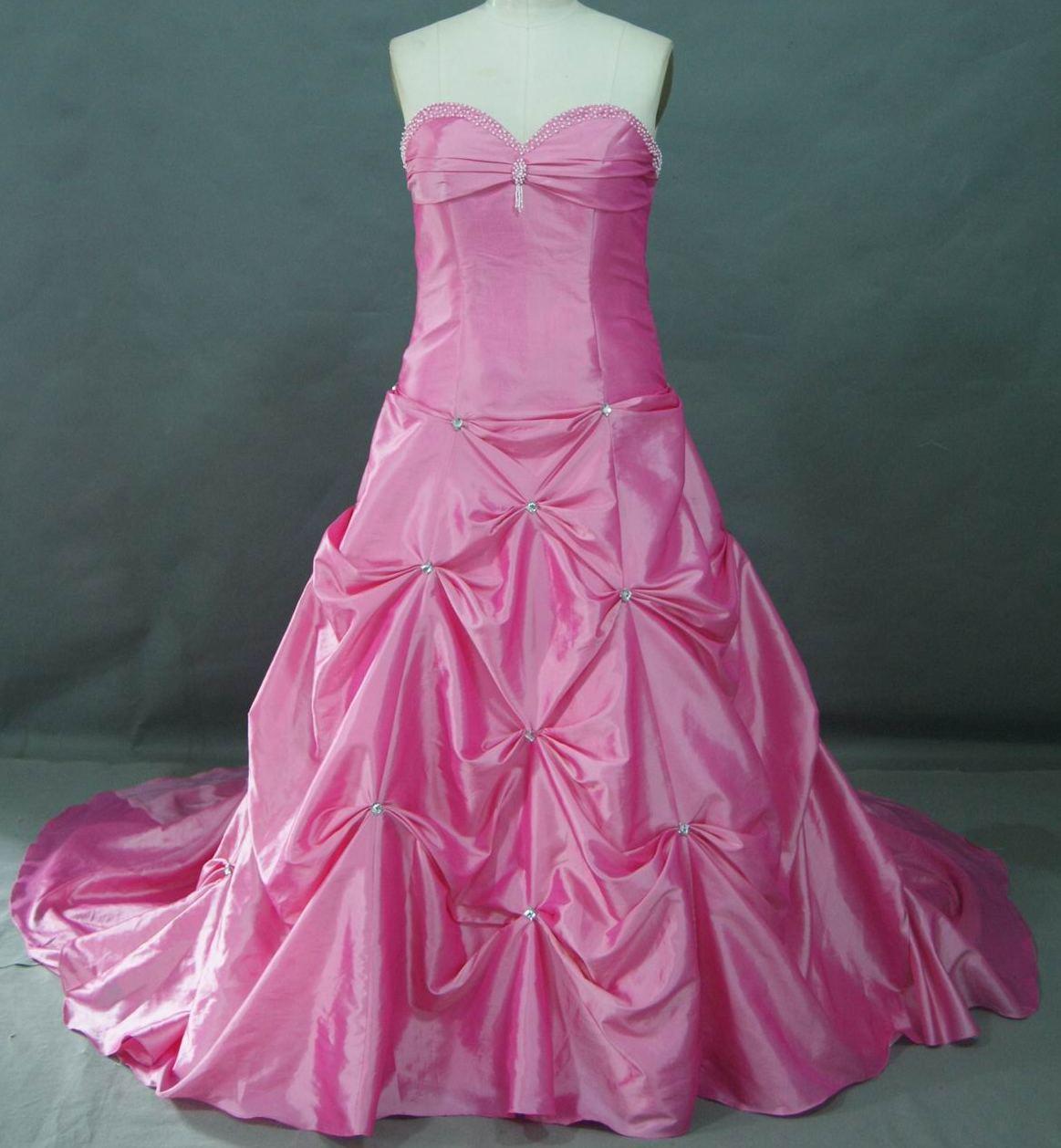 Full bustle skirt red wedding dresses long bubblegum pink dress ombrellifo Images