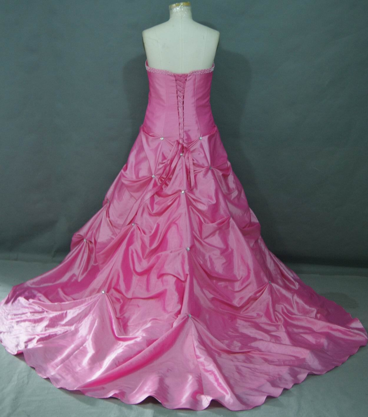 Full bustle skirt red wedding dresses