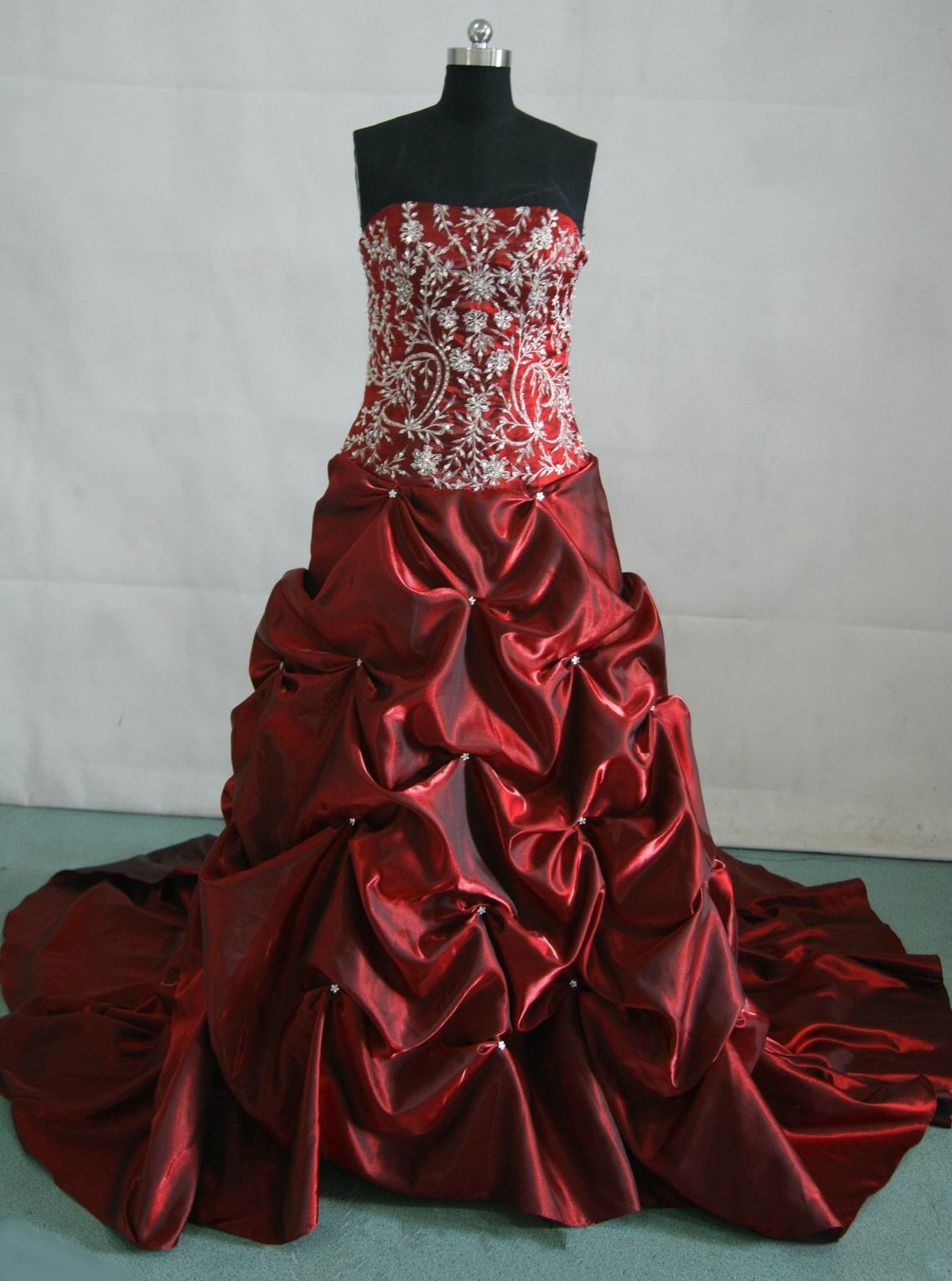 Merlot bridal ball gown