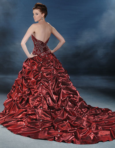 Wedding Dresses Color Red : Red wedding colored dresses
