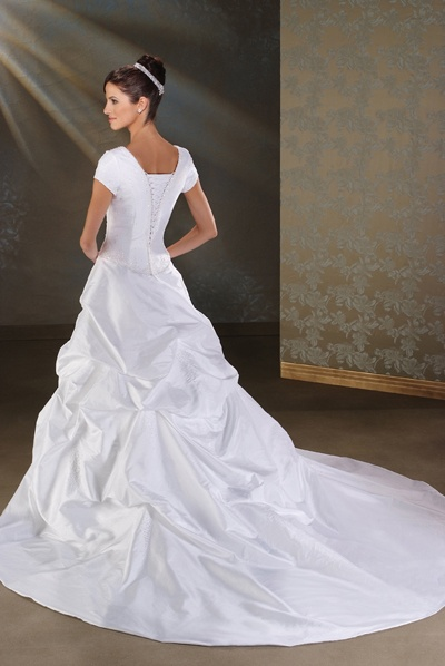 Pick up skirt wedding gown for Pick up wedding dress