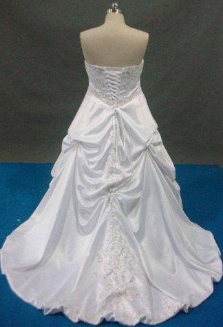 strapless embroidered corset wedding dress