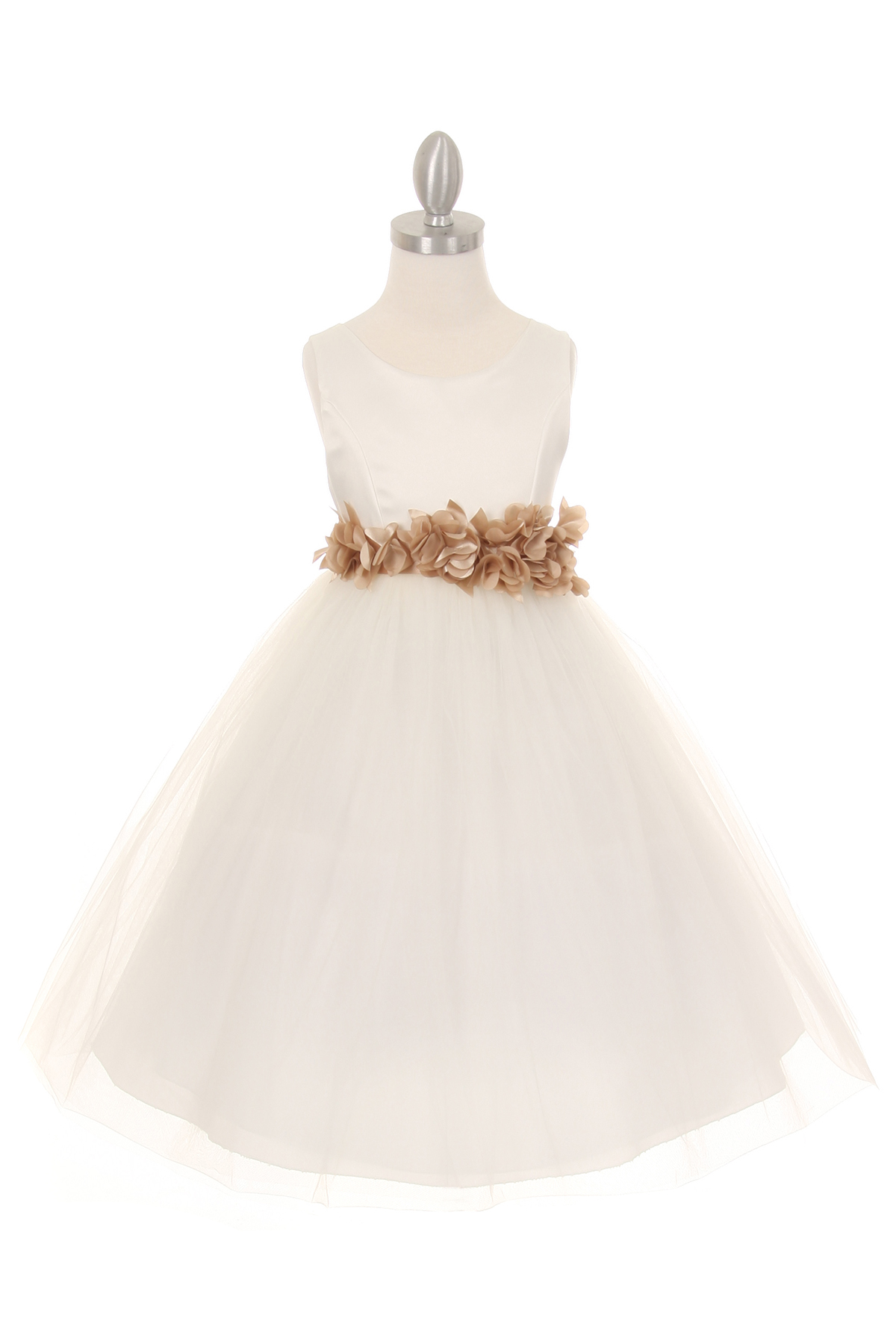 Champagne flower girl pageant dresses