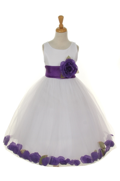 purple petal dresses for girls