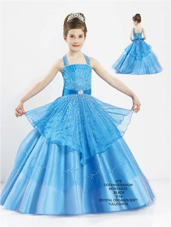 Pageant ball gowns - little girls ball gown dresses.