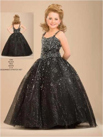 Girls sequin pageant dress