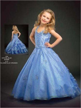 blue pageant dres