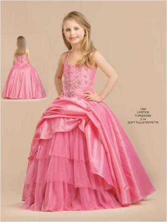 tulle ball gown with full, multi layered skirt