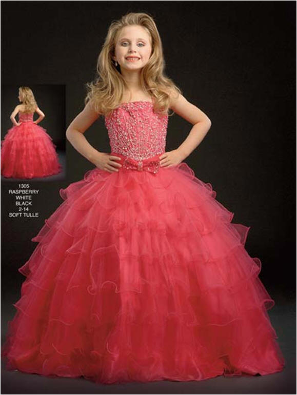 Multi Tiered pageant Dress Size 2 to 14