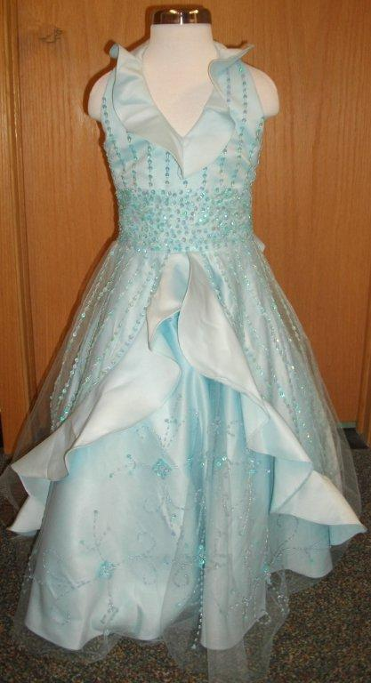 sky blue pageant dress