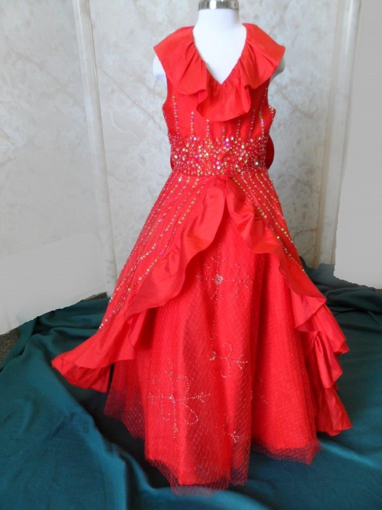 Red Pageant Dresses for Teens