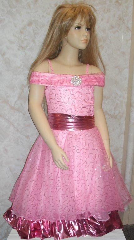 pink sequin pageant dress