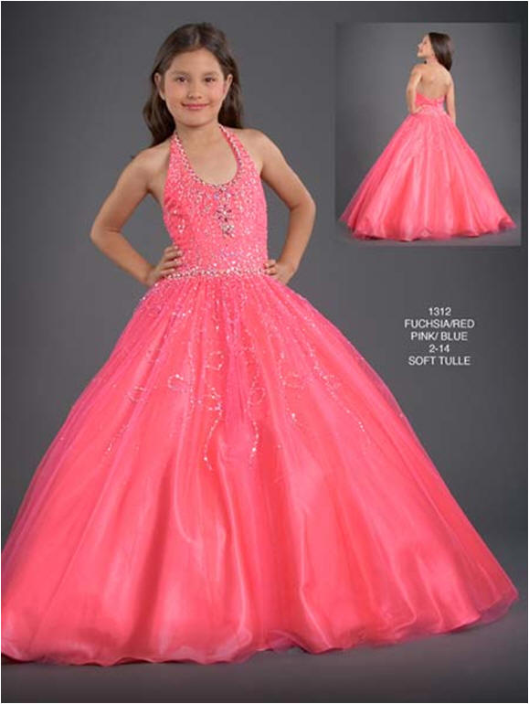 preteen long pageant dresses