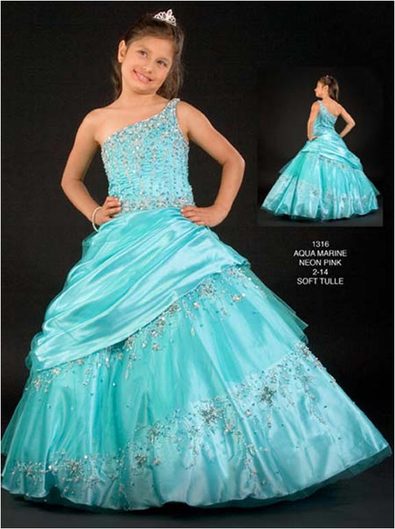 Pageant Dress for 11 Year Old Girls