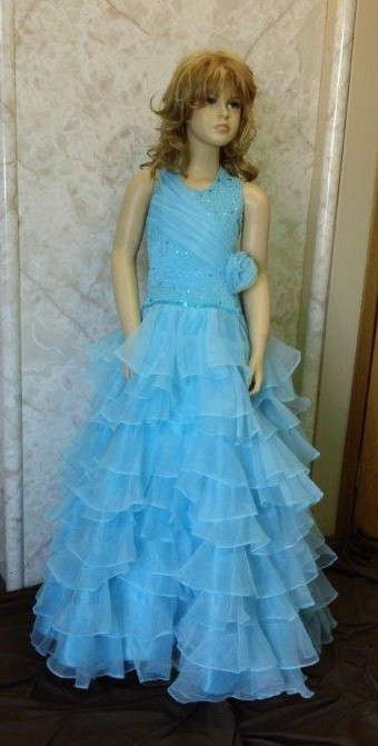 pool blue pageant ball gowns