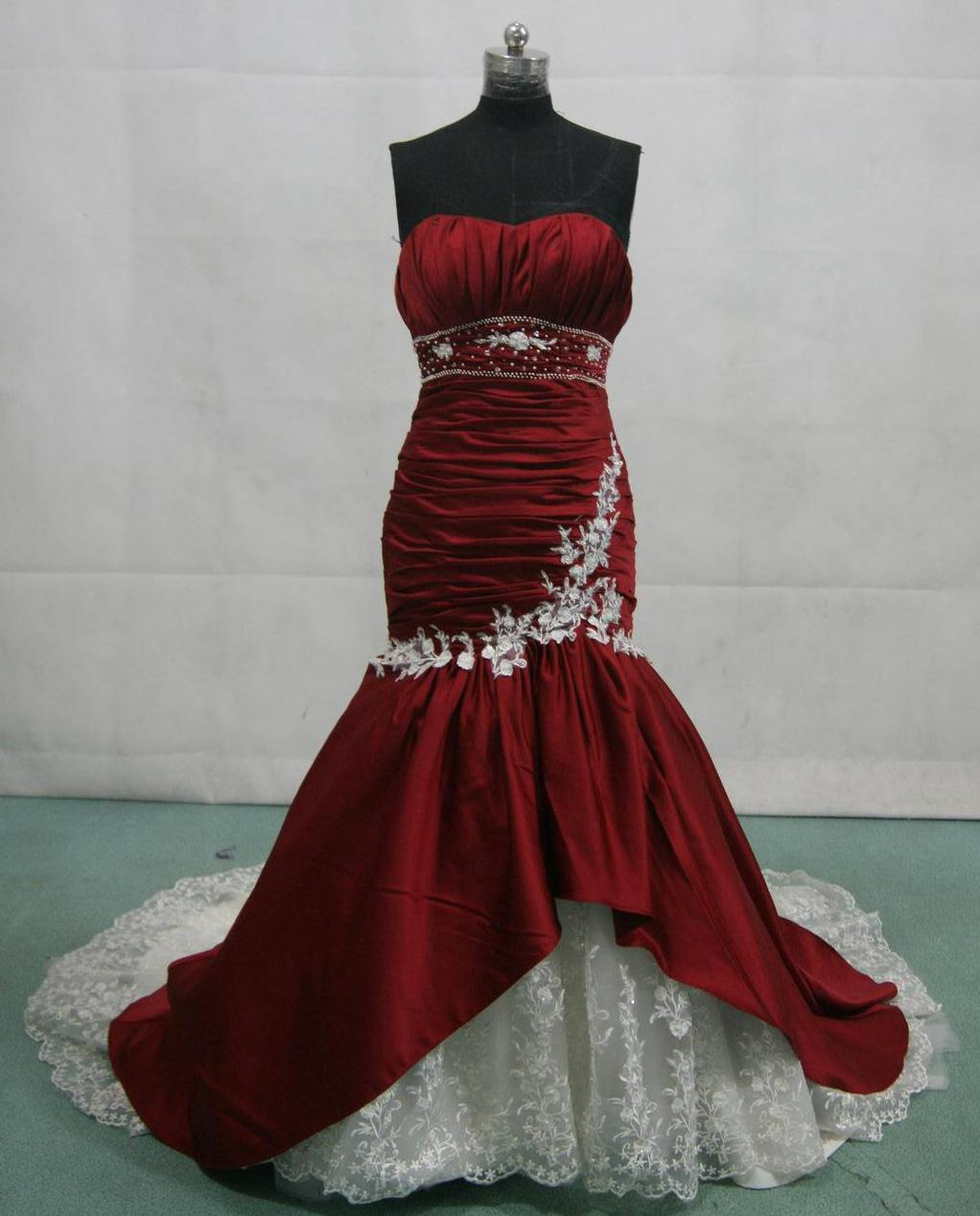 red ball gown