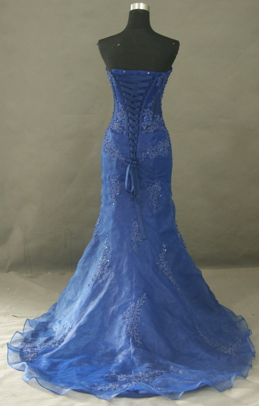 A royal Blue corset dress