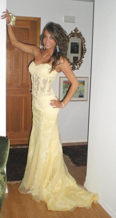 yellow clearance prom dress