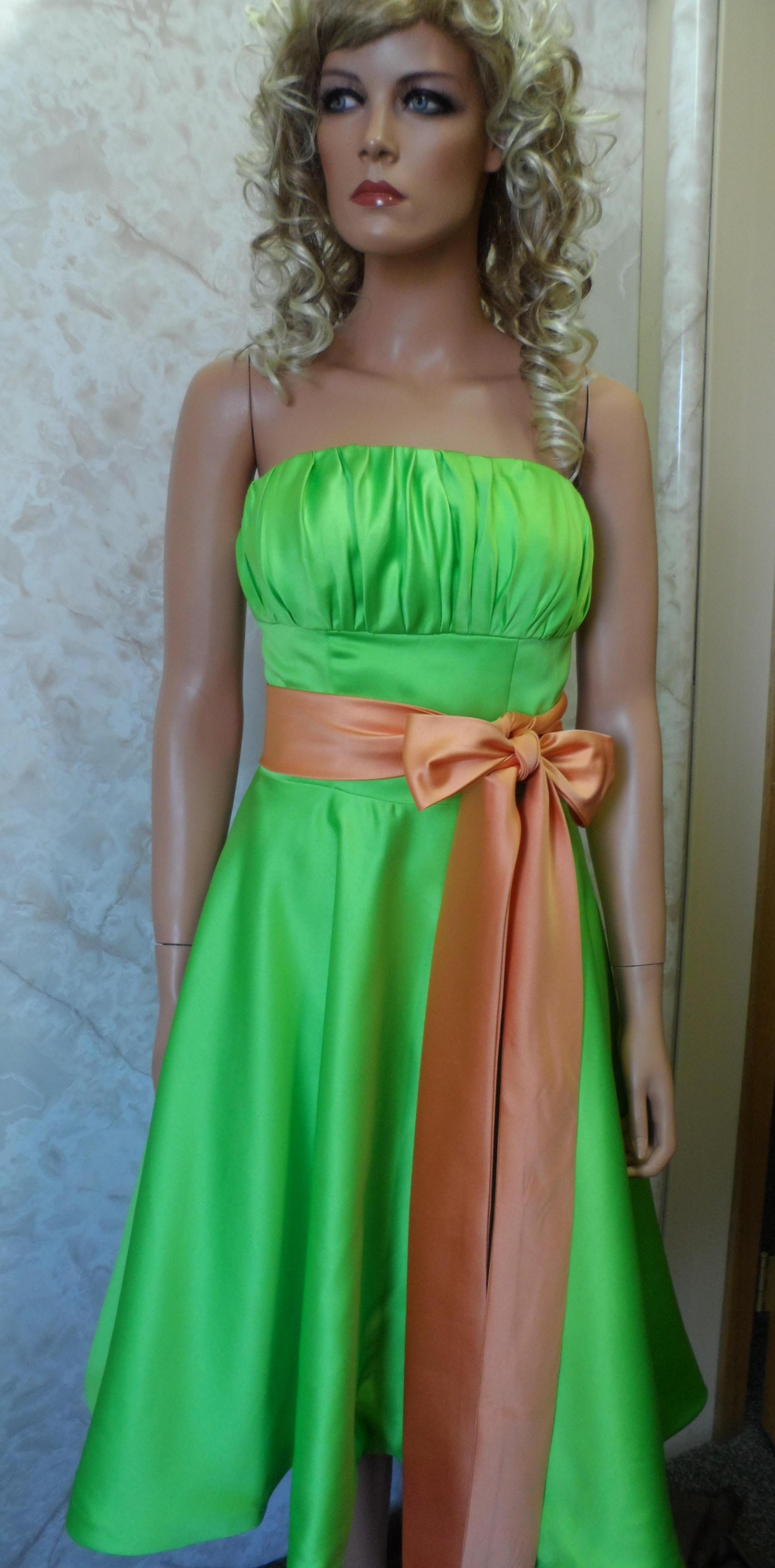 Short strapless brown dresses