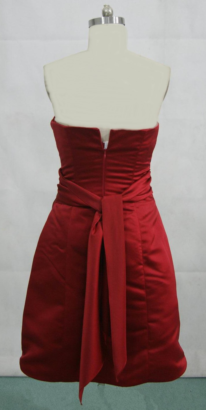 Bridesmaid dresses color apple red cheap wedding dresses for Short red wedding dresses