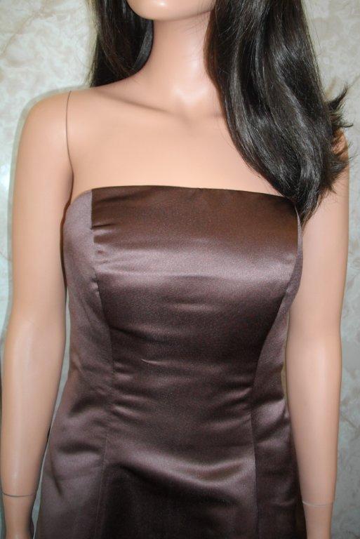 08399042252 chocolate and light pink bridesmaid dresses with no sash ...