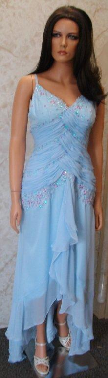 blue and purple size 8 gown
