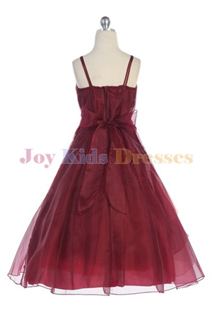 Burgundy / Coral back of dress