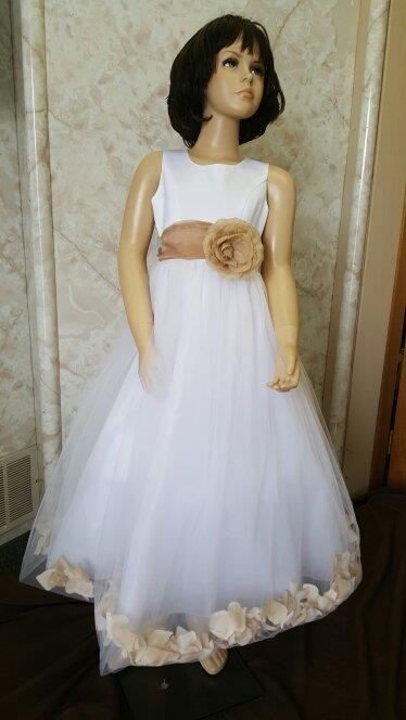 93099b1a8 Clearance flower girl dresses with rose petals.