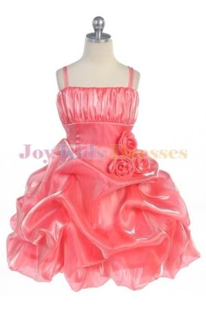 coral short formal pickup dress
