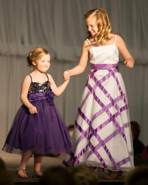Lilac flower girl dresses - purple glitter pageant dress.