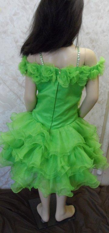 lime green cupcake pageant dress