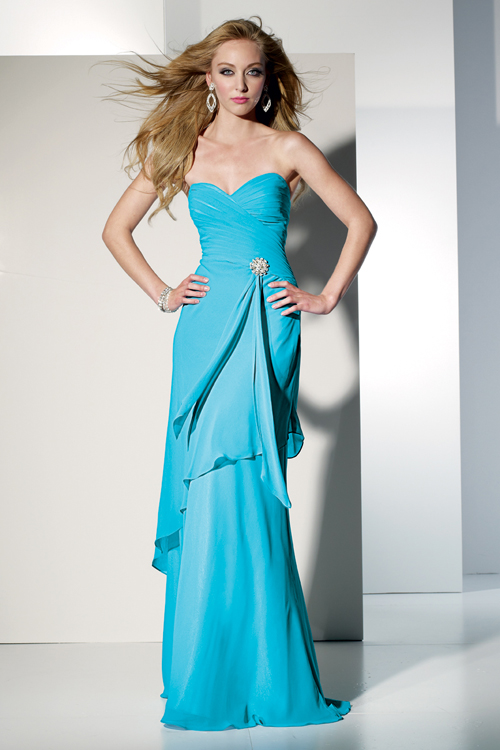 f08e1c74cf1 blue chiffon sweetheart dress