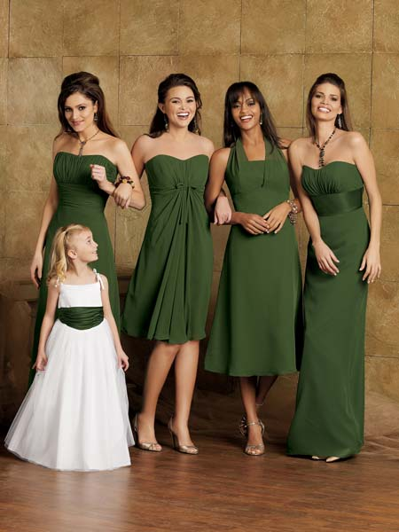 green junior bridesmaid dress