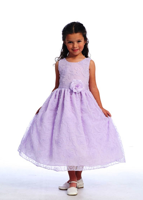 girls dress with flower
