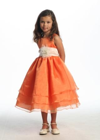 easter egg orange children dress
