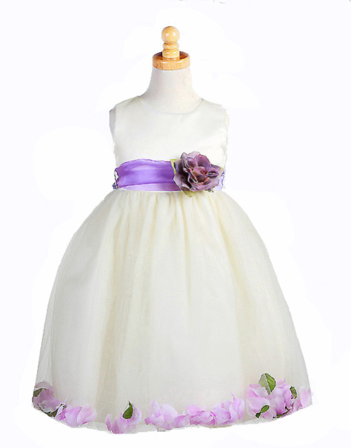 ivory purple dress
