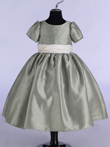 silver flower girl dresses